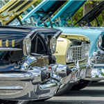 Row of Antique Cars